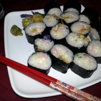 Turnin' Japanese with California Maki and Kani Salad