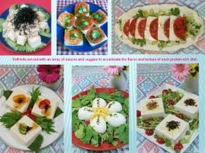 variety of tofu dishes
